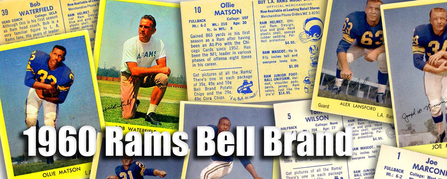 1960 Bell Brand Rams Football Cards