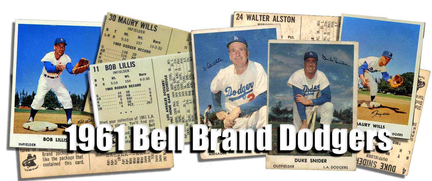 1961 Bell Brand Dodgers Baseball Cards