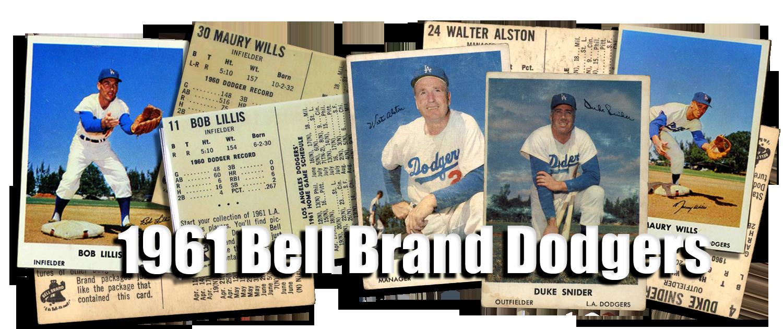 Buy 1961 Bell Brand Dodgers Baseball Cards Sell 1961 Bell Brand