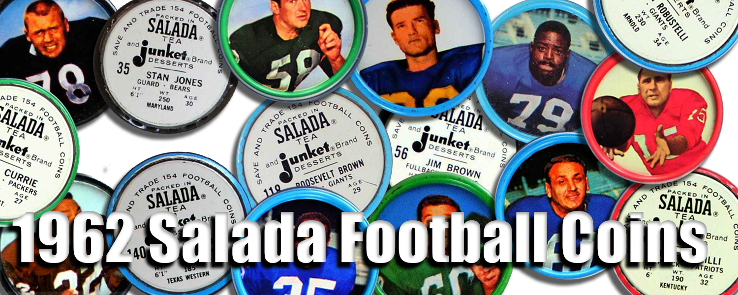 1962 Salada Football Coins