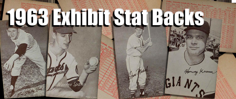 Buy 1963 Exhibit Stat Backs Baseball Cards Sell 1963