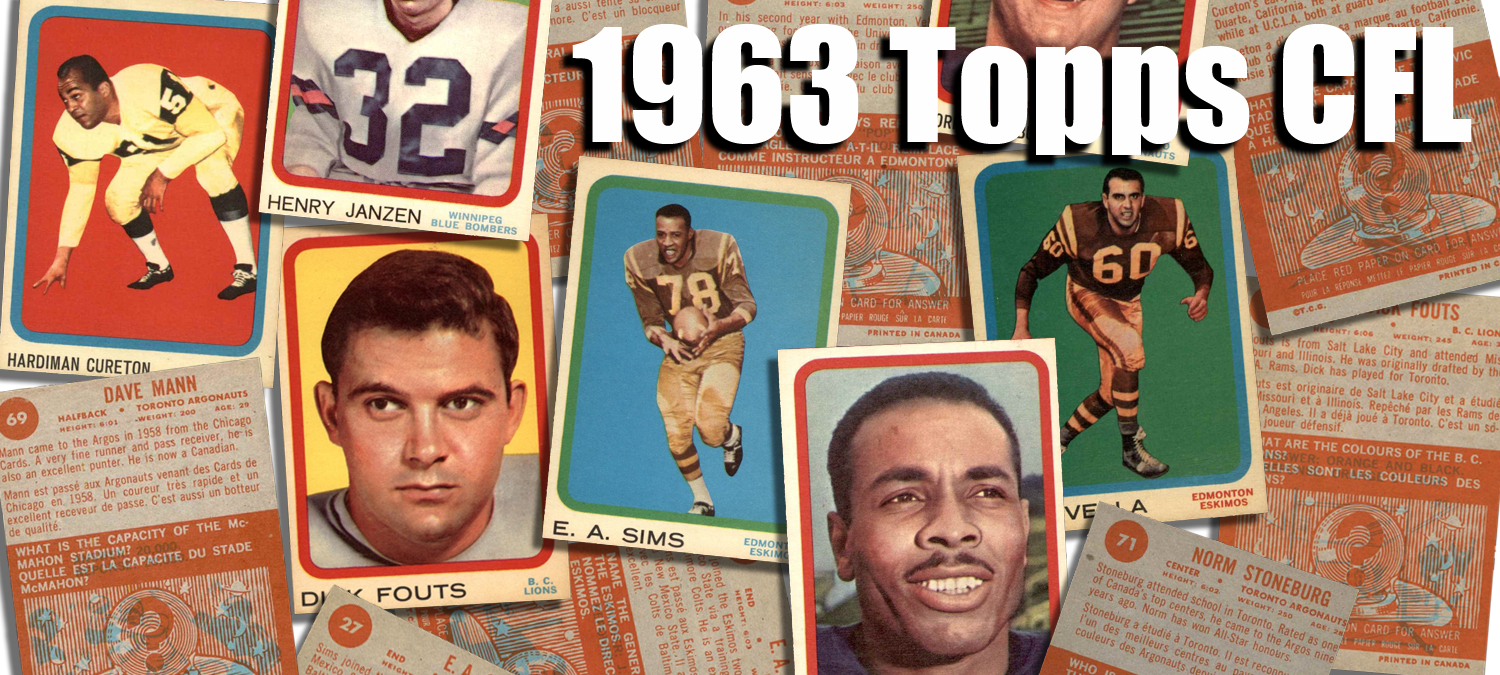 1963 Topps CFL Football Cards