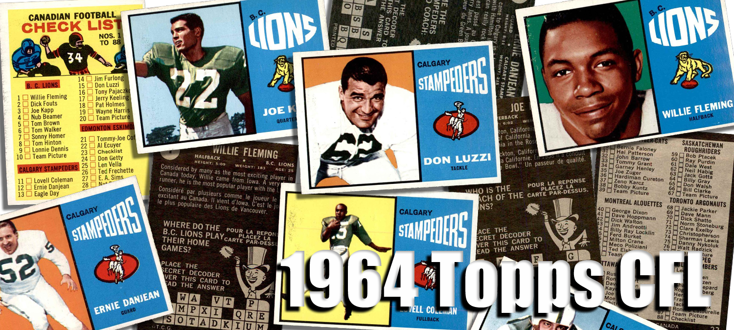 1964 Topps CFL Football Cards