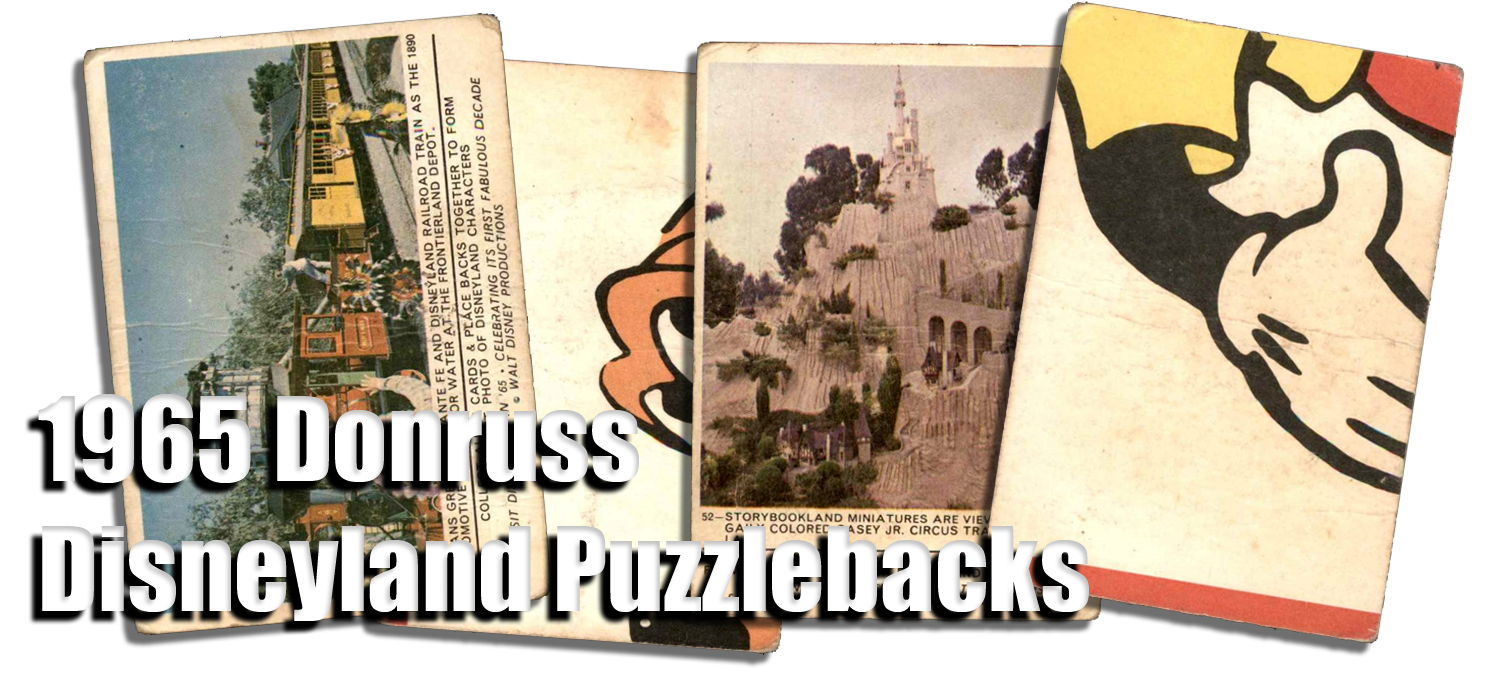 1965 Donruss Disneyland Puzzlebacks