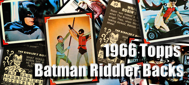 1966 Topps Batman Riddler Back