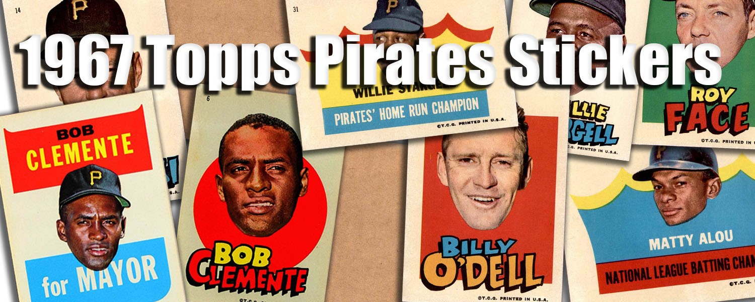 1967 Topps Pirates Stickers