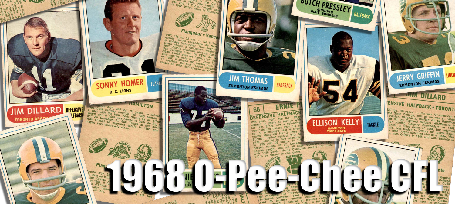 1968 O-Pee-Chee CFL Football Cards