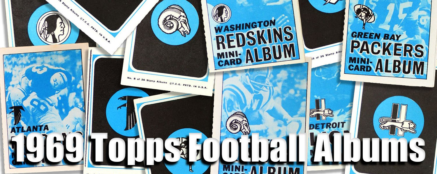 1969 Topps Football 4-in-1 Stamps Albums
