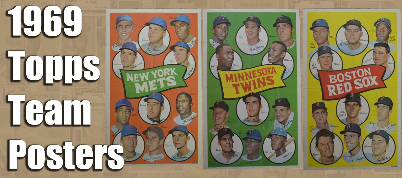 1969 Topps Team Posters