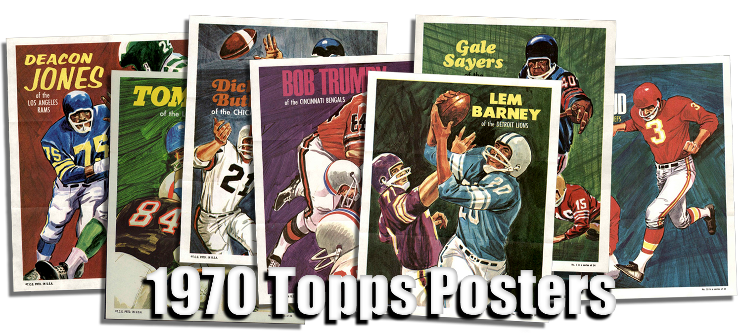 1970 Topps Football Posters