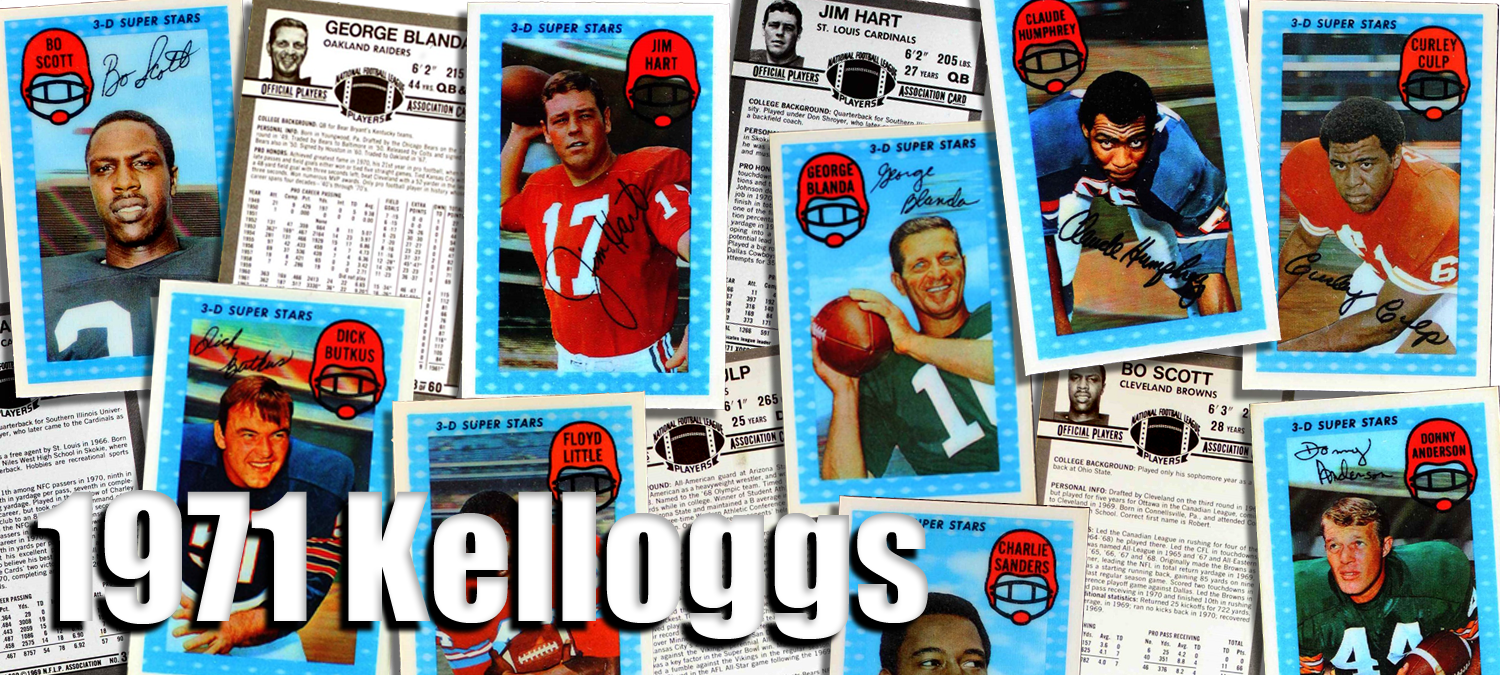 1971 Kelloggs Football Cards