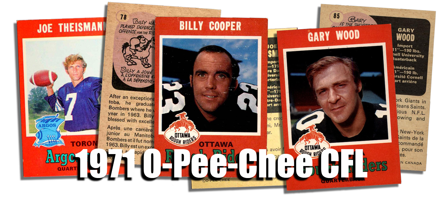 1971 O-Pee-Chee CFL Football Cards