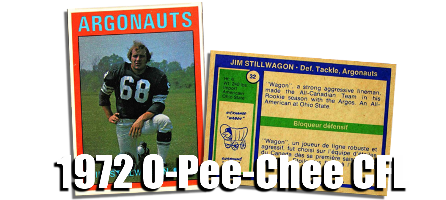 1972 O-Pee-Chee CFL Football Cards