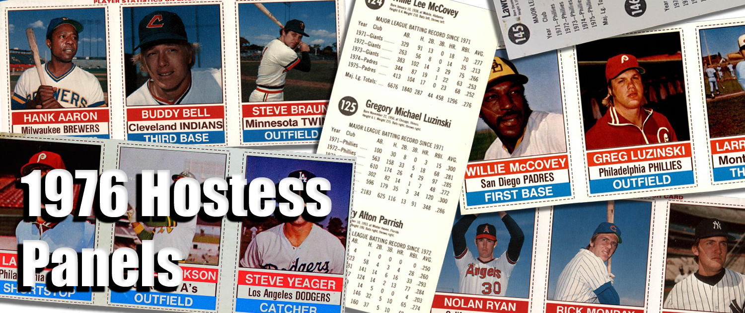 1976 Hostess Baseball Card Panels