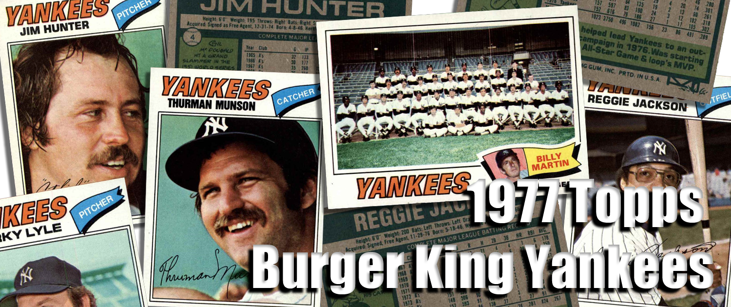 1977 Topps Burger King Yankees Baseball Cards