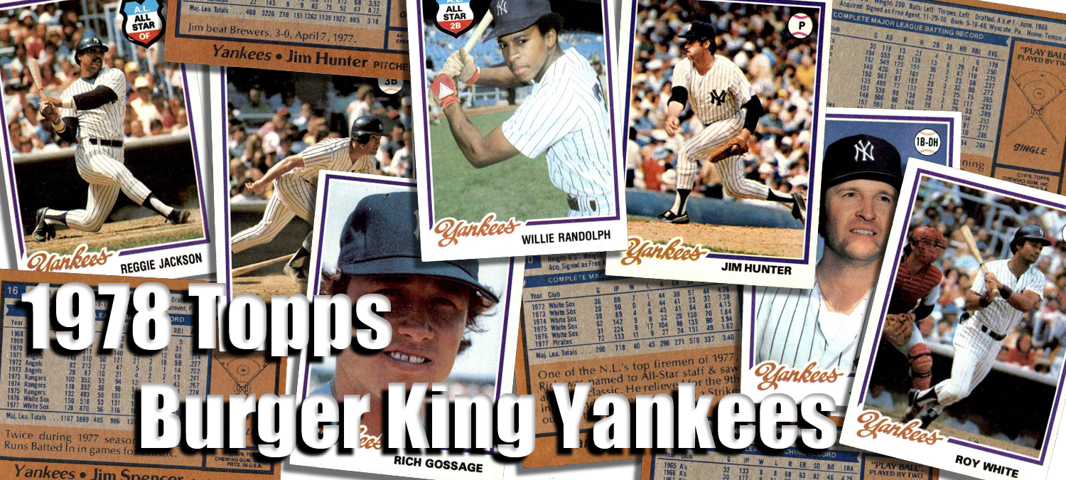 Buy 1978 Topps Burger King Yankees Baseball Cards Sell 1978