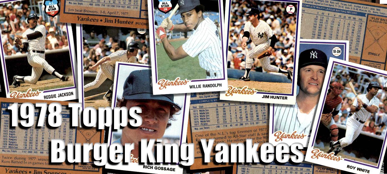 Buy 1978 Topps Burger King Yankees Baseball Cards Sell 1978 Topps