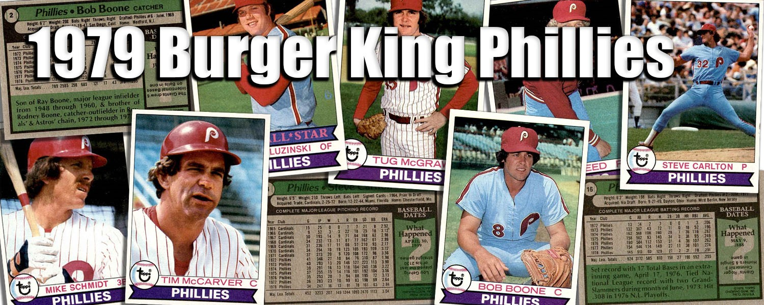 1979 Topps Burger King Phillies Baseball Cards