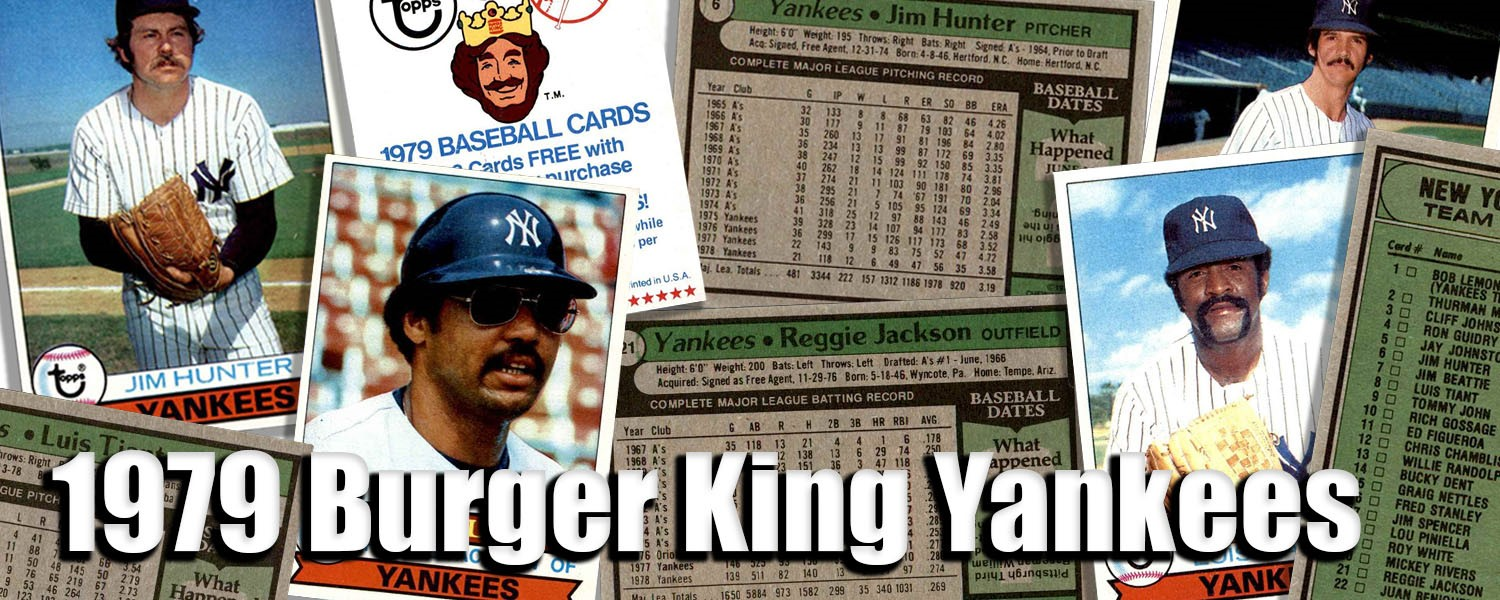 1979 Topps Burger King Yankees Baseball Cards