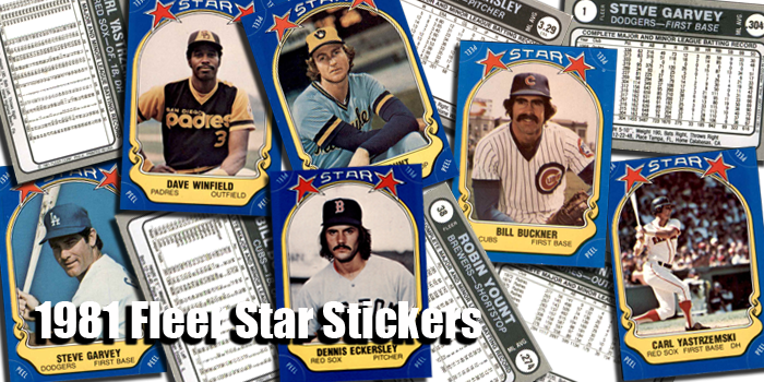 1981 Fleer Star Stickers Baseball Cards