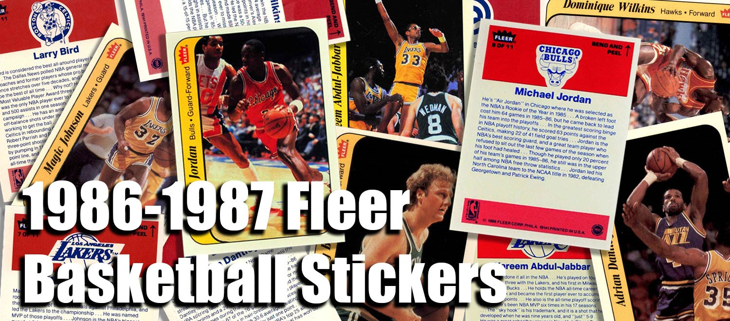 1986-87 Fleer Basketball Stickers