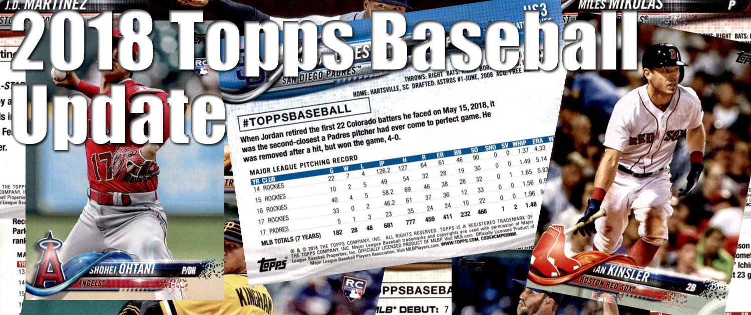 2018 Topps Update Baseball Cards