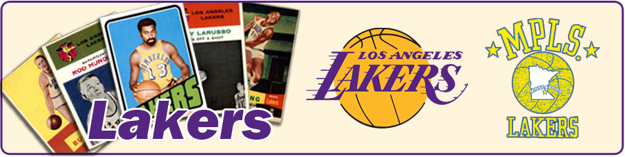Los Angeles & Minneapolis Lakers Team Sets