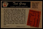 1955 Bowman #86  Ted Gray  Back Thumbnail