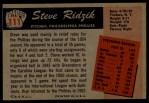 1955 Bowman #111  Steve Ridzik  Back Thumbnail