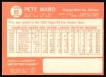 1964 Topps #85  Pete Ward  Back Thumbnail