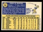 1970 Topps #299  Buddy Bradford  Back Thumbnail