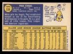 1970 Topps #338  Paul Schaal  Back Thumbnail