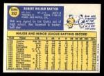1970 Topps #352  Bob Barton  Back Thumbnail