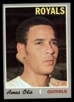 1970 Topps #354  Amos Otis  Front Thumbnail