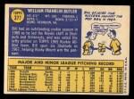 1970 Topps #377  Bill Butler  Back Thumbnail