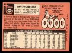 1969 Topps #647  Dave Wickersham  Back Thumbnail