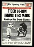 1969 Topps #167   -  Jim Northrup / Tim McCarver / Larry Jaster 1968 World Series - Game #6 - Tiger 10 Run Inning Ties Mark Front Thumbnail