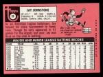 1969 Topps #59  Jay Johnstone  Back Thumbnail