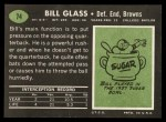 1969 Topps #74  Bill Glass  Back Thumbnail