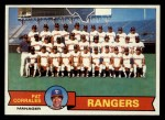 1979 Topps #499   -  Pat Corrales  Rangers Team Checklist Front Thumbnail
