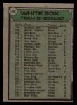 1979 Topps #404   -  Don Kessinger White Sox Team Checklist Back Thumbnail