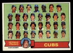 1979 Topps #551   -  Herman Franks  Cubs Team Checklist Front Thumbnail