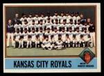 1976 Topps #236   -  Whitey Herzog Royals Team Checklist Front Thumbnail