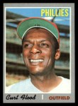 1970 Topps #360  Curt Flood  Front Thumbnail