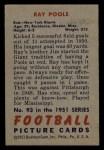1951 Bowman #93  Ray Poole  Back Thumbnail