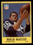 1967 Philadelphia #92  Marlin McKeever  Front Thumbnail
