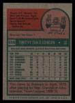 1975 Topps #556  Tim Johnson  Back Thumbnail