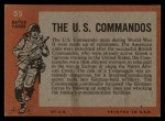 1965 Topps Battle #55   The U.S. Commandos  Back Thumbnail