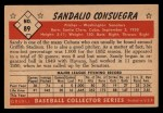 1953 Bowman #89  Sandy Consuegra  Back Thumbnail