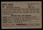 1952 Bowman Large #55  Andy Davis  Back Thumbnail